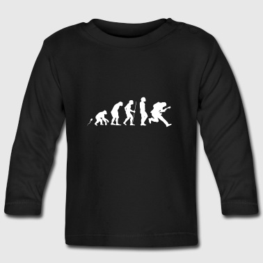 E Gitarre Evolution Fun Shirt - Baby Langarmshirt
