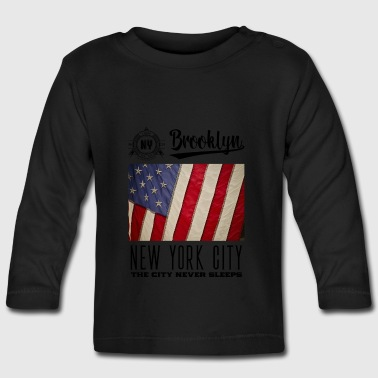 Nueva York · Brooklyn - Camiseta manga larga bebé