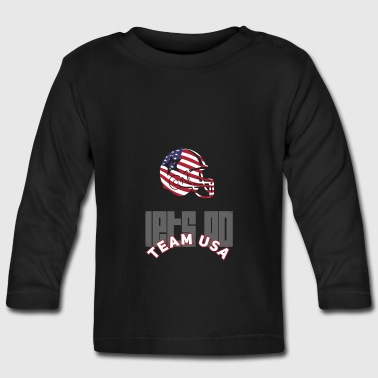 Usa Football Touch down flag America Sports defenes - Baby Long Sleeve T-Shirt
