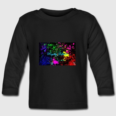 Royalty Defined Paint Splatter - Baby Long Sleeve T-Shirt