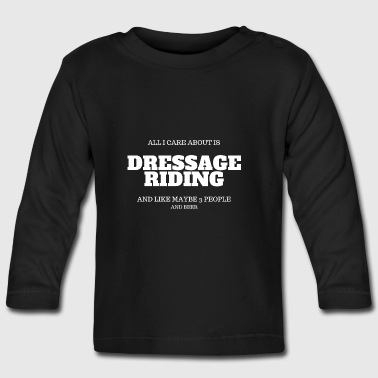 dressage riding beer - Baby Long Sleeve T-Shirt