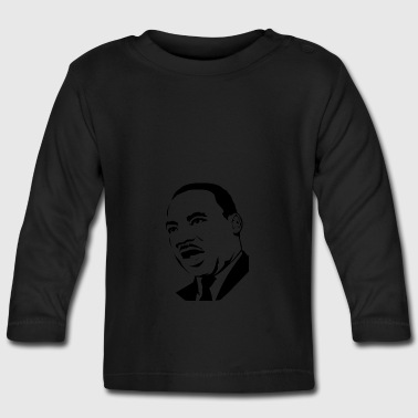 Martin Luther King stencil - Långärmad T-shirt baby