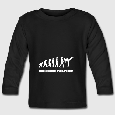 Kickboxing Evolution, gift for Kickboxer - Baby Long Sleeve T-Shirt