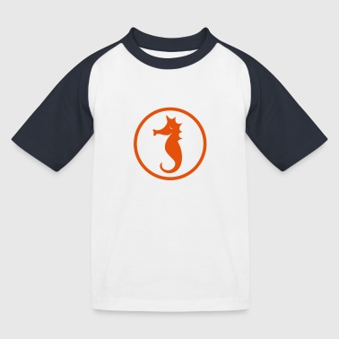 Seepferd - Kinder Baseball T-Shirt