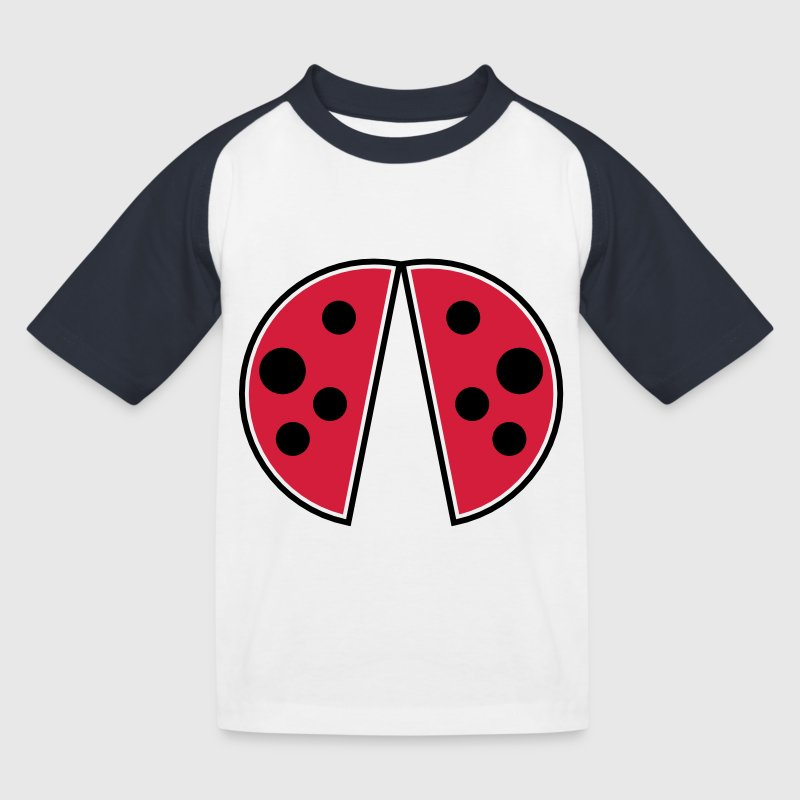 cute red black spots ladybug wings ladybug - Kids' Baseball T-Shirt
