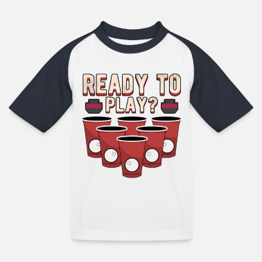 Becher Beer Pong Becher - Kinder Baseball T-Shirt