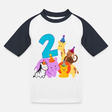 Jungle Jungle 2nd Birthday Boy Zoo - Kids' Baseball T-Shirt