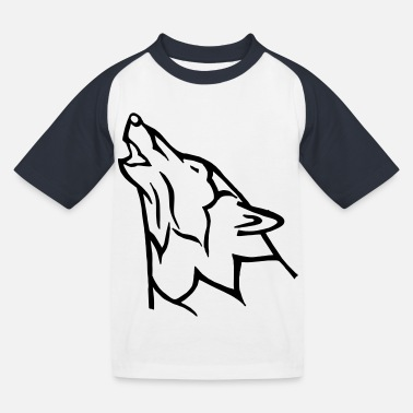 Alpha Wolf - Kids' Baseball T-Shirt