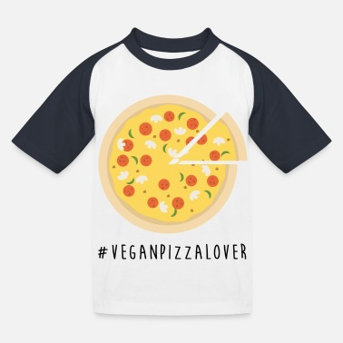 Vegan Pizza Lover - Kids' Baseball T-Shirt