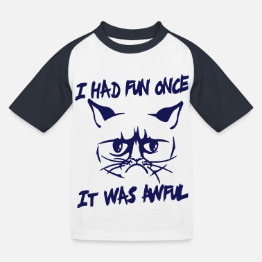 Funny Kids I had fun once, it was awful - Kids' Baseball T-Shirt