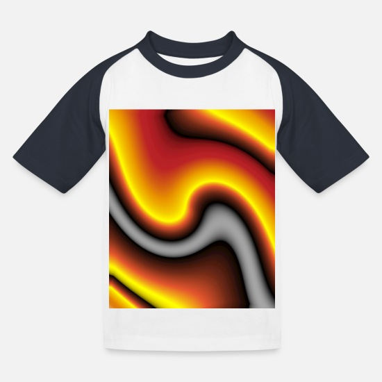 Drip T-Shirts - color gradient - Kids' Baseball T-Shirt white/navy