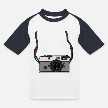 Selfie great camera gift for photographers with lens - Kids' Baseball T-Shirt
