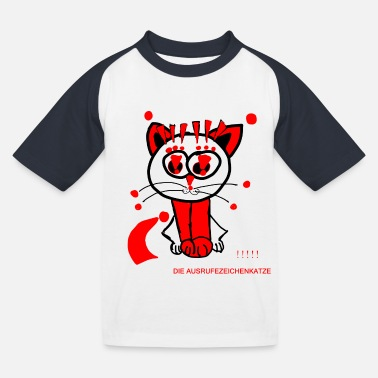 Punctuation Marks The exclamation mark cat loves punctuation marks - Kids' Baseball T-Shirt