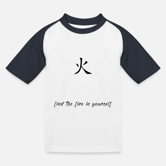 Symbol  T-Shirts - find the fire - Kids' Baseball T-Shirt white/navy