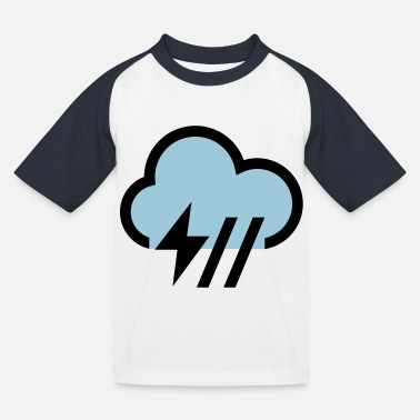 Icon Storm, storm cloud icon, icon - Kids' Baseball T-Shirt