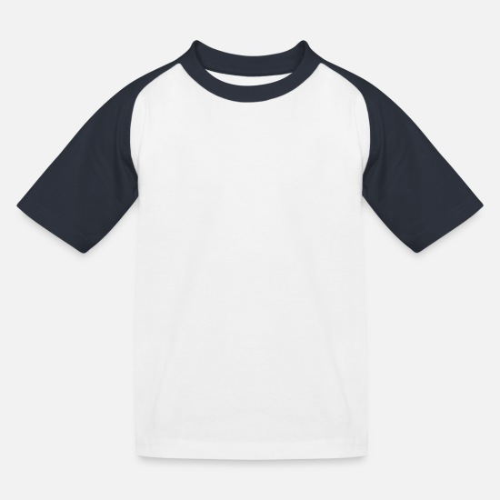 Performance T-shirts - La vie est vraiment bonne Ride On - Biking Shirt - T-shirt baseball Enfant blanc/marine