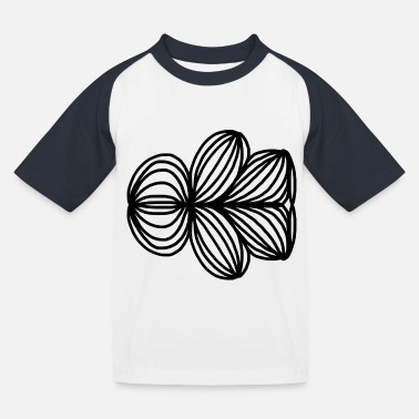 Symmetry Mirroring Abstract lines pattern symmetry - Kids' Baseball T-Shirt