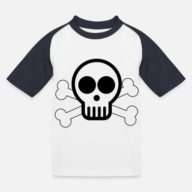 Cute Skull Cute Skull - Kids' Baseball T-Shirt