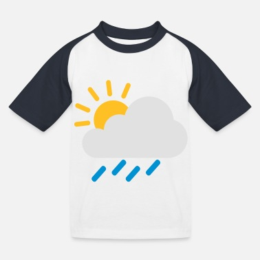 Icon Weather cloud icon - Kids' Baseball T-Shirt