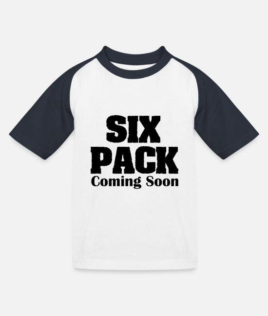 Six T-Shirts - Six Pack Coming Soon - Kids' Baseball T-Shirt white/navy