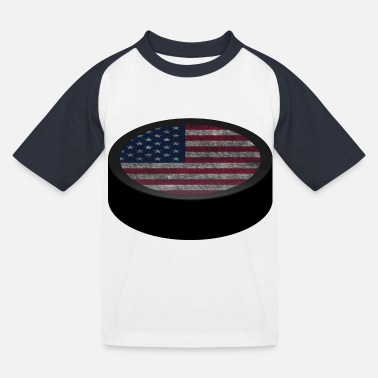 Hockey Puck (USA) - Kids' Baseball T-Shirt