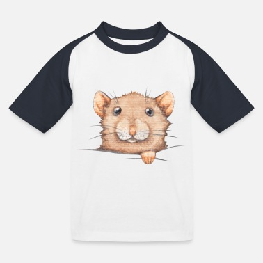 Taschen Ratte, Pocket Rat - Kinder Baseball T-Shirt