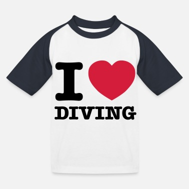 I Love Diving - T-shirt baseball Enfant