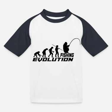 Evolution fishing - Kids' Baseball T-Shirt