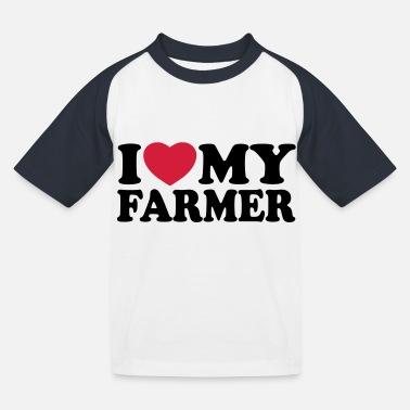 I love my farmer - Camiseta béisbol niño