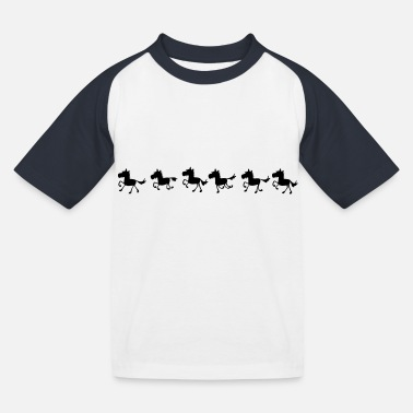 galop x 6 - Kinderen baseball T-shirt
