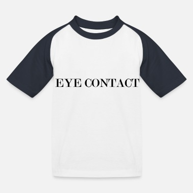 Contact eye contact - T-shirt baseball Enfant