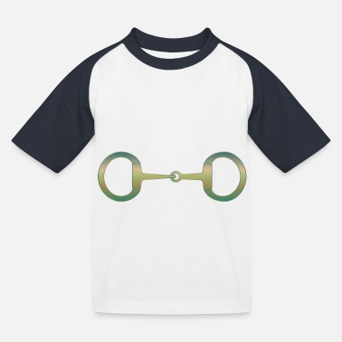 Snaffle Bit Bronze Patina - Kids' Baseball T-Shirt