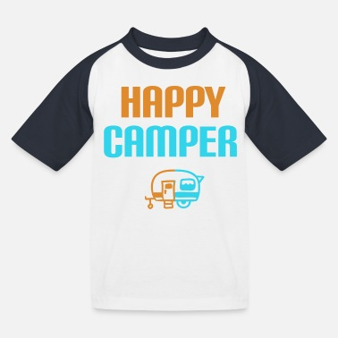 Campground Caravan camping campground - Kids' Baseball T-Shirt