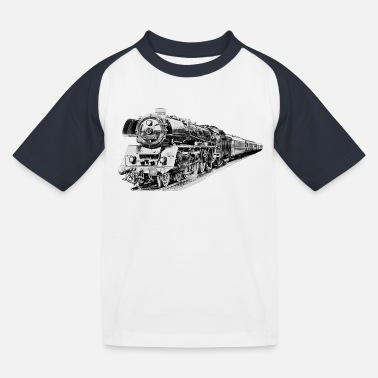 Dampflokomotive Dampflokomotive - Kinder Baseball T-Shirt