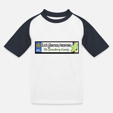 WEXFORD, IRELAND: licence plate tag style decal eu - Kids' Baseball T-Shirt