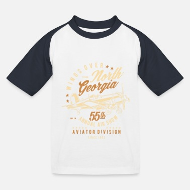 North Yorkshire Wings Over North Georgia - Kids' Baseball T-Shirt
