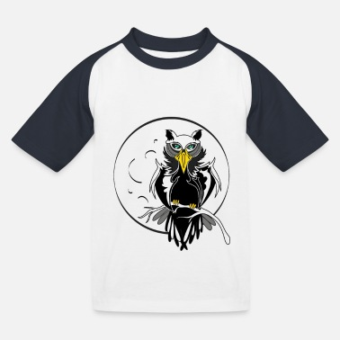 stylized owl - Kids' Baseball T-Shirt