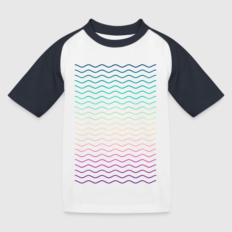 Minimal Geometry Hipster Lines (colorful/rainbow) - Kids' Baseball T-Shirt