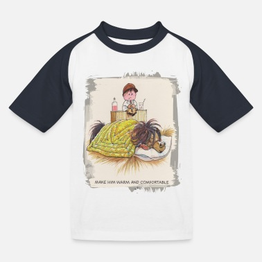 Thelwell - Pony sleeping - Kids' Baseball T-Shirt