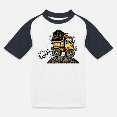 First Day Of School truck - Kids' Baseball T-Shirt
