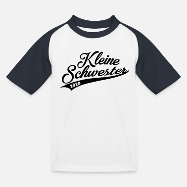 Kleine Schwester 2020 Handwriting - Kinder Baseball T-Shirt