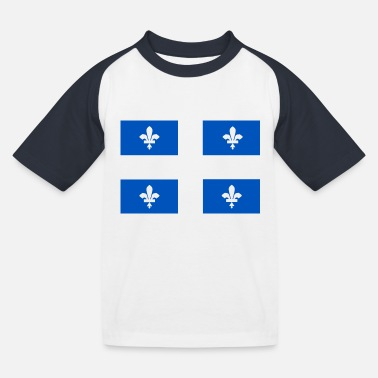 Quebec flag - Kids' Baseball T-Shirt
