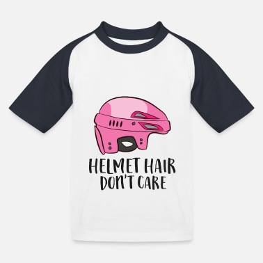 Hockeytorwart Helm Haar Don't Care Funny Hockey - Kinder Baseball T-Shirt