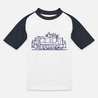 Railway Station Diesel locomotive - Kids' Baseball T-Shirt