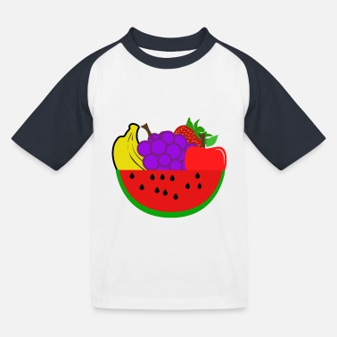 Fruit Fruits - fruits - Kids' Baseball T-Shirt