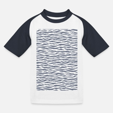 Zebra Zebra Stripe Pattern - Kids' Baseball T-Shirt