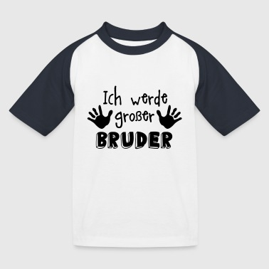 grosser bruder - Kinder Baseball T-Shirt
