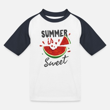 summer is sweet - Kids' Baseball T-Shirt