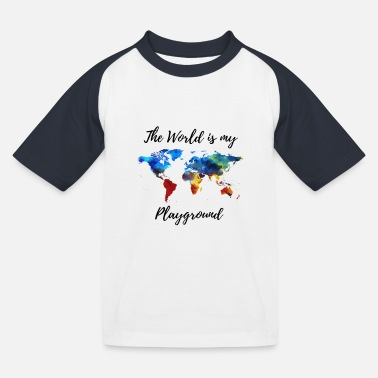 The World is my Playground - Kinder Baseball T-Shirt