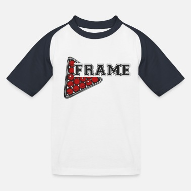Snooker frame - Kids' Baseball T-Shirt